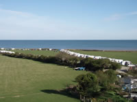Camping field with access to the beach